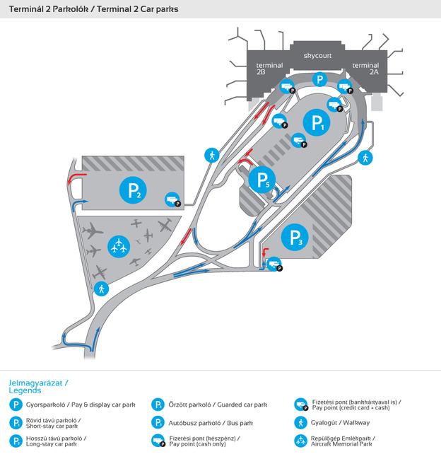 Repülőtéri parkolótérkép