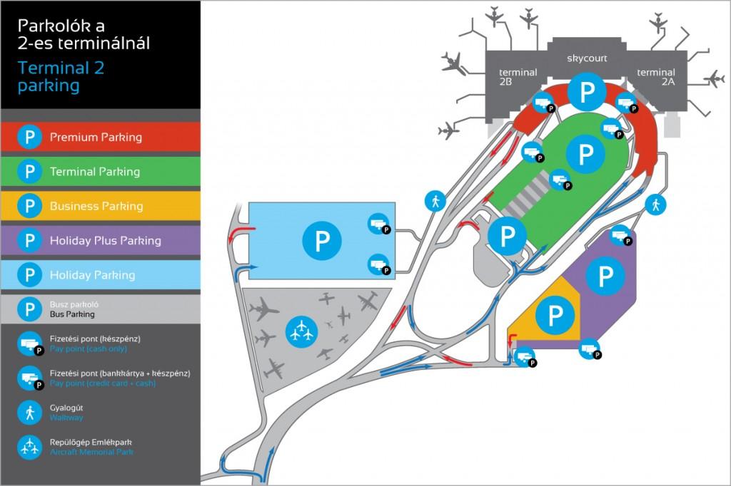Parkolótérkép - terminál 2